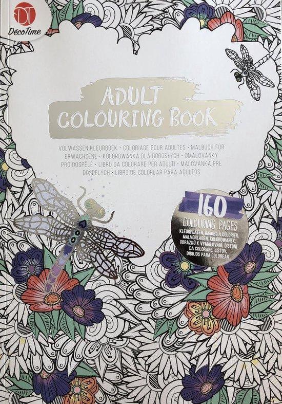 Afbeelding van volwassen kleurboek libel