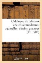 Catalogue de tableaux anciens et modernes, aquarelles, dessins, gravures