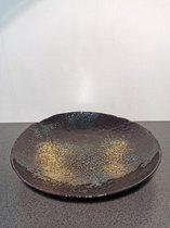 Schaal 40cm zwart goud Salt&Pepper