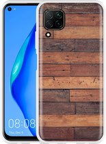 Huawei P40 Lite Hoesje Houten planken