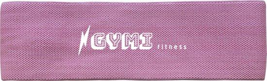 GYMI fitness weerstandsbanden | Resistance band | Fitness elastiek | Booty Band | Weerstandsband mauve| Sterkte: medium