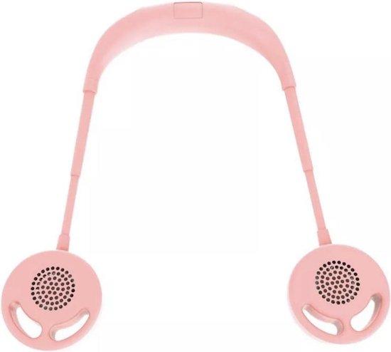 Bladloze ventilator Krachtige USB Draagbare Ventilator   Mini ventilator   Tafel Ventilator   Draagbare Fan   Nek Fan   Nek Ventilator   Roze