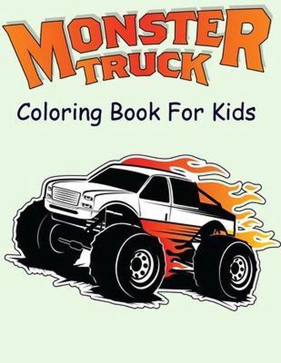 Bol Com Monster Truck Coloring Book For Kids Nicholas Nicky 9798648740198 Boeken