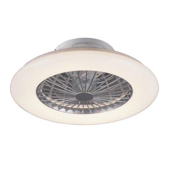 Trio Leuchten Stralsund Plafond Ventilator met lamp - Met Afstandsbediening - Ø60cm - Wit