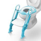 8. Macx & Macx WC Verkleiner met Trapje - Inclusief Handvaten - Opvouwbaar - 2 tot 7 jaar - Blauw