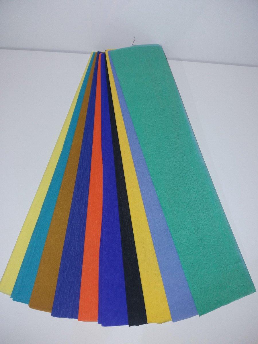 Crepe papier 250 x 50 cm assorti F kopen