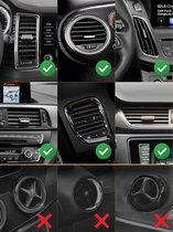 Magnetische Krachtige Telefoonhouder voor alle auto's met Recht Ventilatierooster - Voor alle telefoons - Telefoonhouders - Zwart
