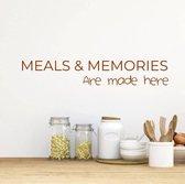 Muursticker Keuken Meals En Memories -  Bruin -  80 x 14 cm  - Muursticker4Sale