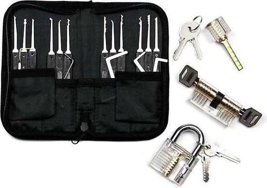 Uitgebreide Lockpick Set met 3 sloten - Lockpicking - Lock pick gereedschap tools - Lockpicken voor beginners en professionals - 2021 Versie + Gratis E-Book