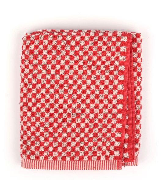 Keukendoek Bunzlau Castle Small Check 53x60cm, rood - 6 pack
