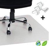 Luxergoods bureaustoelmat EVA (biologisch) - 90X120 cm - Nieuw 2020 - Inclusief Hoekbeschermers - Vloermat bureaustoel - Antislipmat - Vloerbeschermer - Stoel onderlegger - Voor harde vloer - Voor vloerbedekking