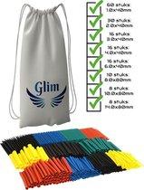 Glim - Krimpkous assortiment - 164 stuks - 8 maten - Krimpkousen set