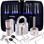 Lockpick set met Gratis E-book - 3x oefenslot - lockpicking - lockpicken - voor beginners en professionals - 2020 versie - RiverworkX