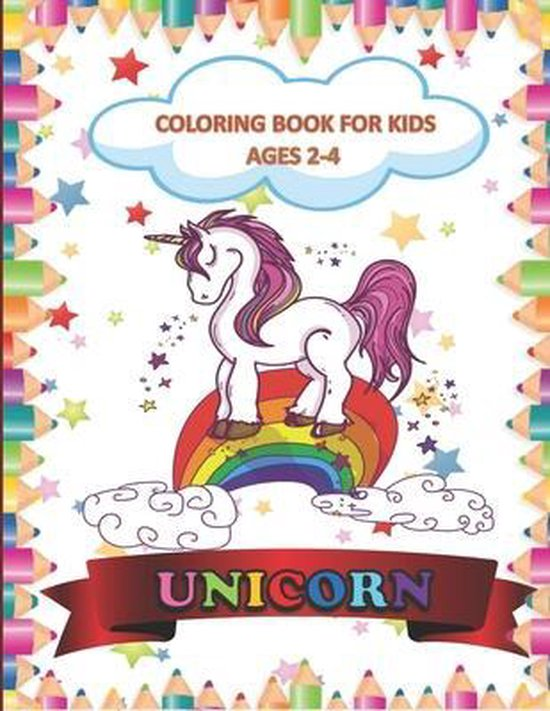 Unicorn Coloring Book for Kids Ages 2-4