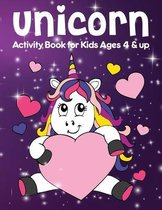 Unicorn Activity Book for Kids Ages 4 & up