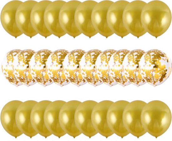 Sens Design Ballonnen – Feest versiering verjaardag – 30 stuks – Goud