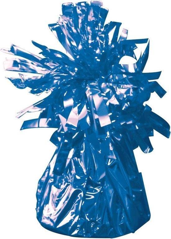 Set van 8x stuks ballon gewichtjes blauw 170 gram - Ballon gewichten voor helium ballonnen