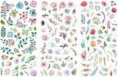 Bullet journal stickers bloemen - 120 kleine stickers - bulletjournal stickers - scrapbook stickers - laptop sticker - telefoon sticker - stickers volwassenen - stickervellen