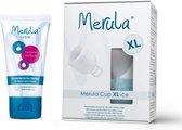 Merula menstruatie cup XL incl Merula lube - ice kleurloos