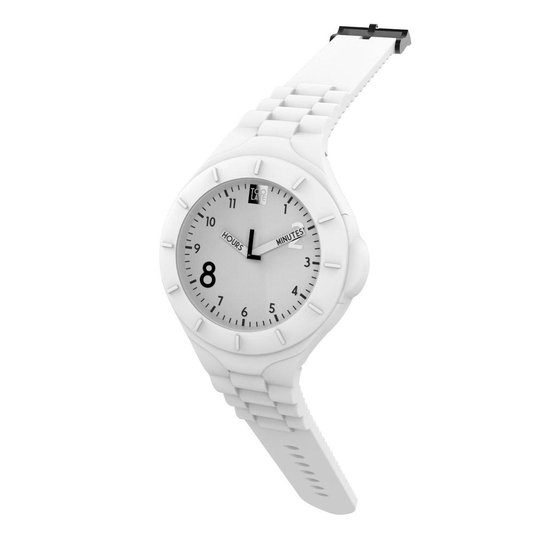 TOO LATE – siliconen horloge – MASH UP LORD FAT – Ø 45 mm – WHITE