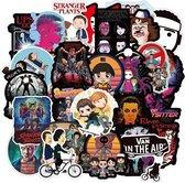 100 Stranger Things stickers - voor laptop, telefoon, deur etc. - Nieuw Ontwerp