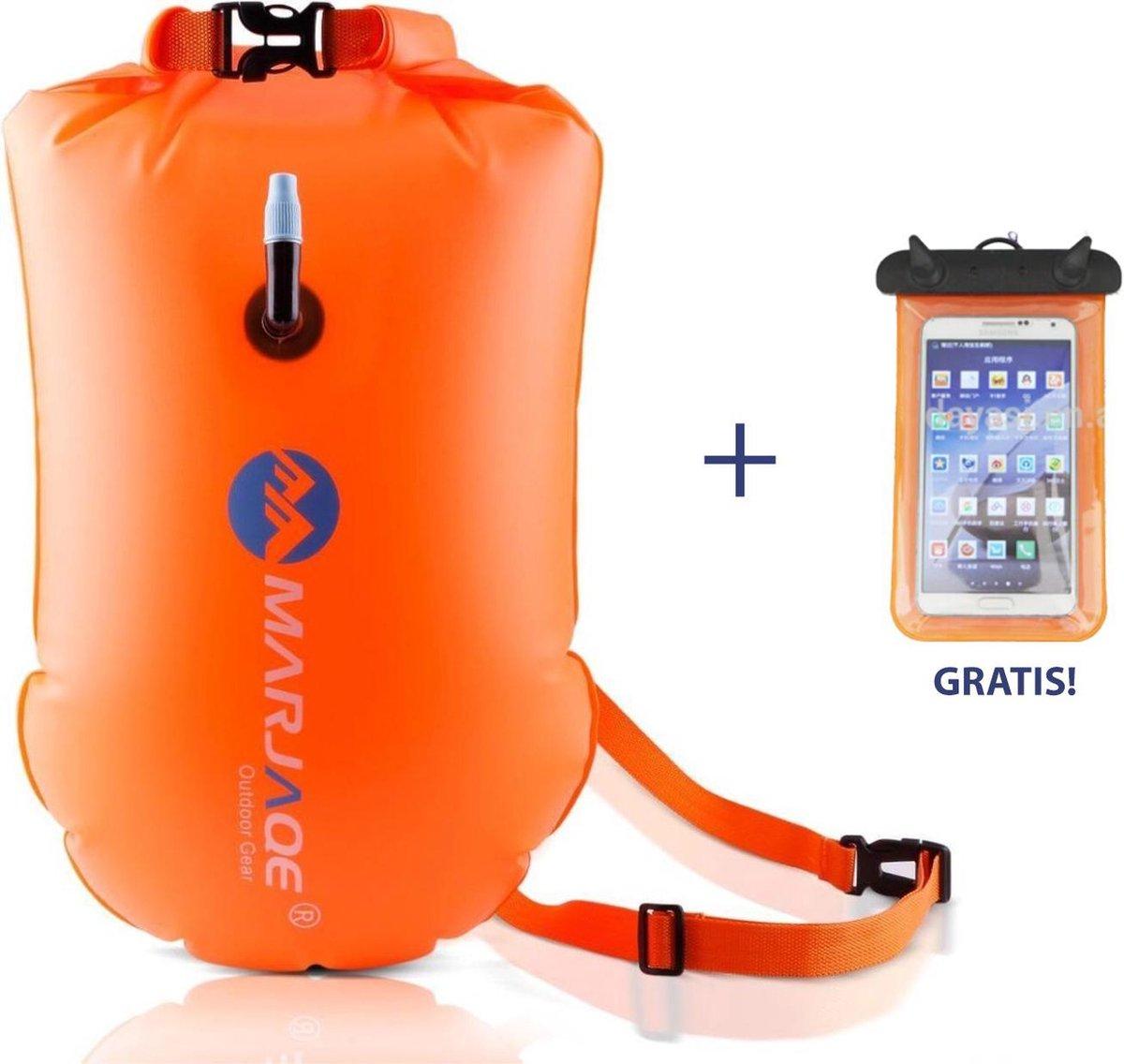 Zwemboei voor Veilig Openwater en Triatlon Zwemmen |Zwem Boei| - incl. drybag /Saferswimmer/Safe swi