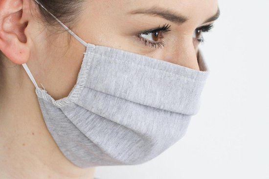 Mondmasker   Mondkapje   Katoen   Wasbaar   Hoogste kwaliteit   Grijs