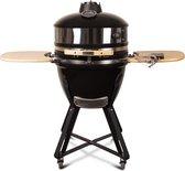 "Patton - Kamado 21"" - Meat & Pizza edition - Premium Black - Keramische barbecue - incl. Bluetooth  kerntemperatuurmeter - LED verlichting - Large - Compleet - Zwart"