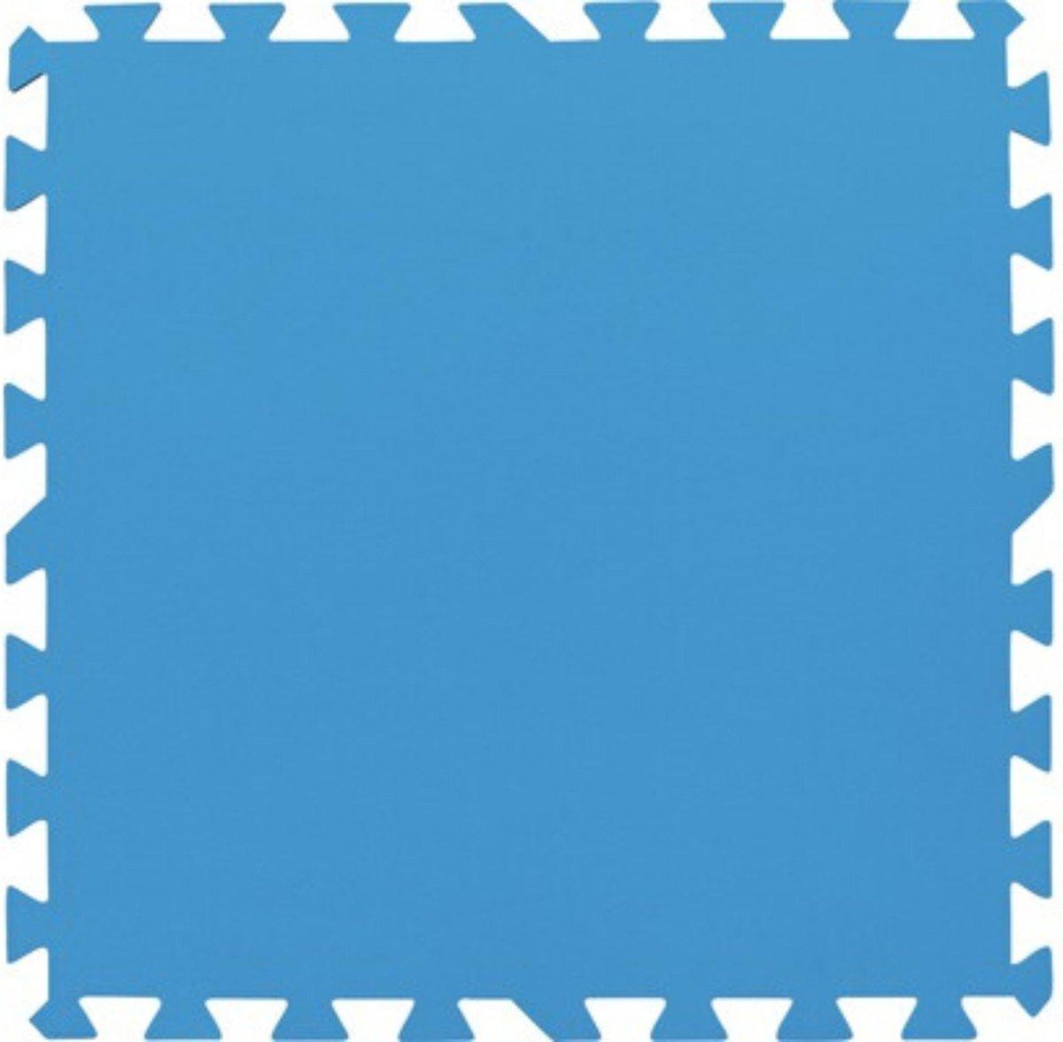 Zwembadtegels Blauw 50x50 CM 8 Stuks - Grondzeil Zwembad - Ondertegels Zwembad - 2m²