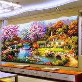"""Diamond Painting Volwassenen - Volledig Pakket - 100 x 50cm - Ronde Steentjes - Diamant Painting - """"Gigantisch Landschap"""""""