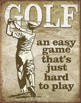 Signs-USA Golf - Easy Game - Retro Wandbord - Metaal - 40x30 cm