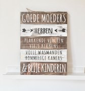 Wandborden Hout Spreukbord Moeders Mama Woondecoratie Cadeau Moederdag Verjaardag Goede moeders