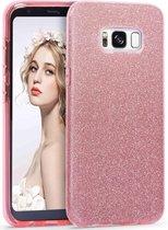 Samsung Galaxy S8 Plus Hoesje - Glitter Backcover - Roze