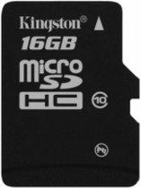 Kingston Micro SD kaart 16 GB - Class 10