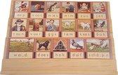 Play Time - Houten Leesplank Aap Noot Mies - inclusief letters en envelop