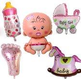 Babyshower Versiering Pakket - Baby Shower Balonnen Set - Geboorte Cadeau Meisje
