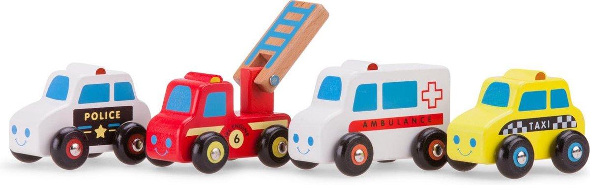 New Classic Toys Speelgoedvoertuigen Set - 4 Auto's