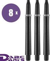 ABC Darts Shafts - Kunststof Zwart - Medium - 8 sets