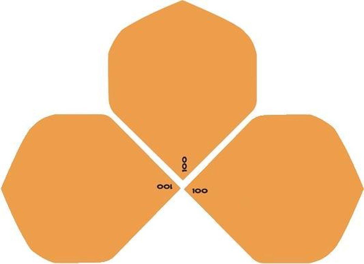 ABC Darts Flights - Oranje dart flights - extra stevig - 10 sets