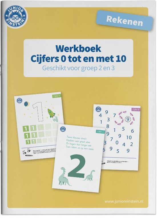 Rekenen Cijfers 0 tm 10 voor groep 2 en 3 Werkboek