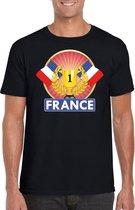 Zwart Frans kampioen t-shirt heren - Frankrijk supporters shirt L