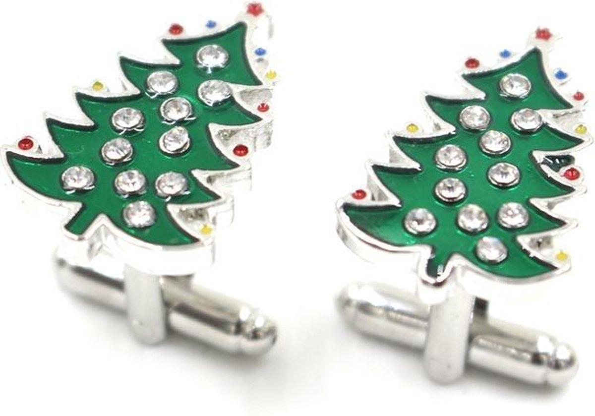 Manchetknopen kerstboom - YourTie.nl - Merkloos
