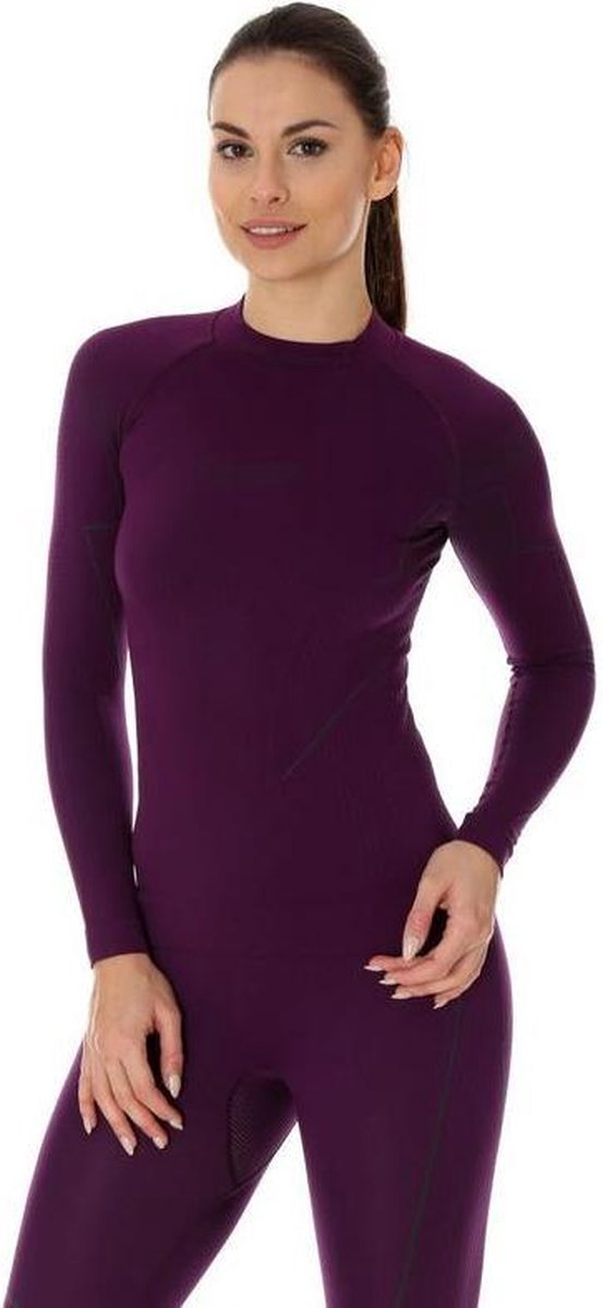 Brubeck | Dames Thermoshirt - Thermokleding - met Nilit® Innergy - Violet - S