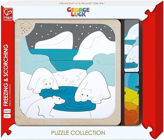 Hape Houten puzzel IJsberen 33 stukjes