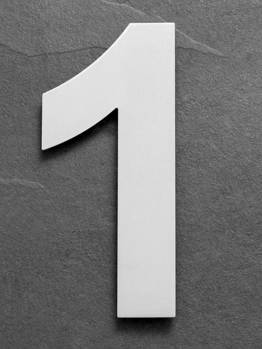 Xaptovi Huisnummer 1 Materiaal: RVS - Hoogte: 25cm - Kleur: RVS - XAPTOVi