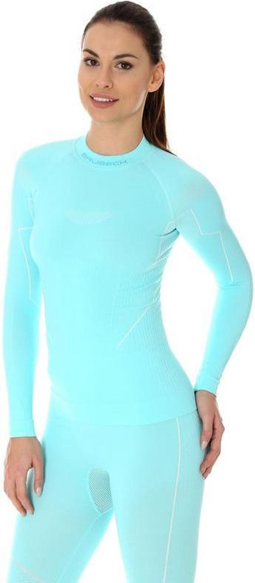 Brubeck | Dames Thermoshirt - Thermokleding - met Nilit® Innergy - Lichtblauw - S