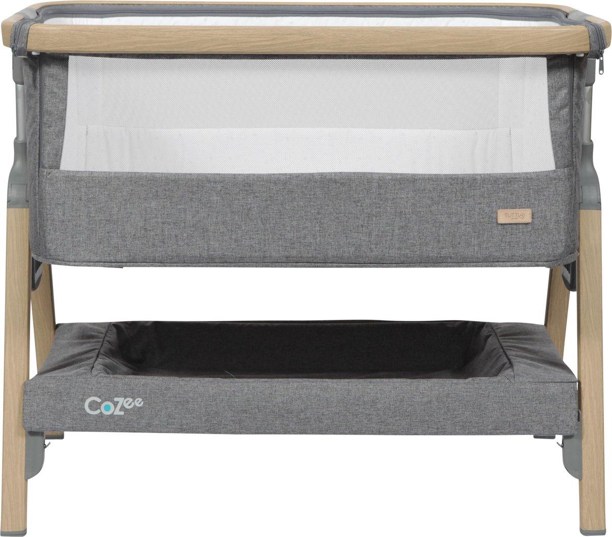 Tutti Bambini Cozee Bedside Wieg - Oak/Charcoal