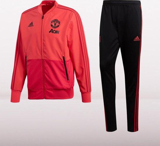 Adidas Manchester United Trainingspak 2018/2019 Heren - Zwart/Oranje