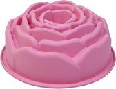 Roosvorm, siliconen, diam. 21,5 x h 9.5cm - Roze