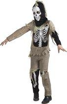 Kostuum Zombie Skelet - 4-6 Jaar - Carnavalskleding